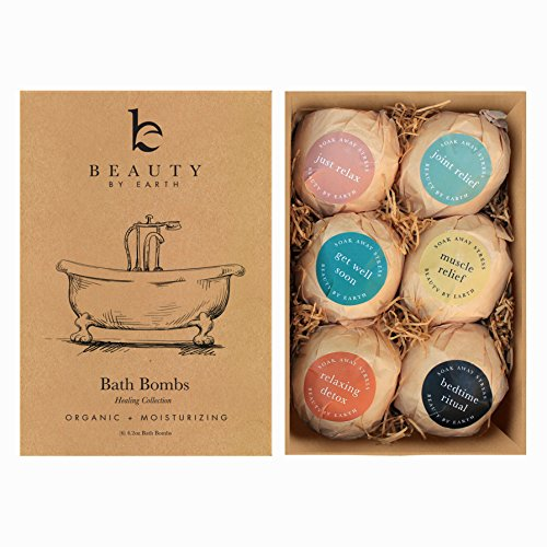 Bath Bombs Gift Set, Large, Organic  Natural Ingredients