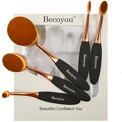 Makeup Brushes Set, Becoyou New Fashionable Super Soft Oval
