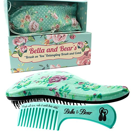 Bella and Bear Detangling Hair Brush and Comb Set