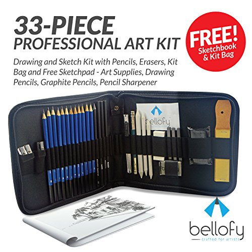33-piece Professional Art Kit - Drawing and Sketch Kit