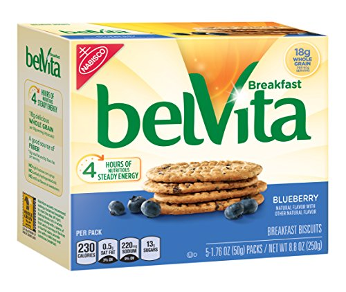 $17.88 belVita Breakfast Biscuits, Blueberry, 8.8 Ounce (6 Pack)