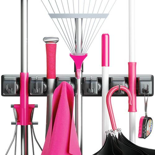 Berry Ave Broom Holder and Garden Tool Organizer for