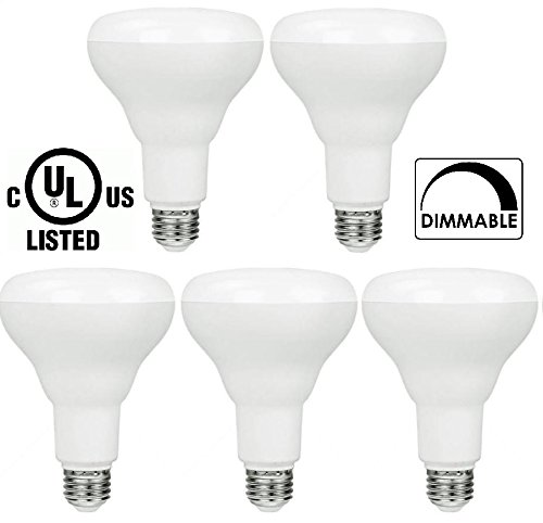 5-pack Bioluz LED SEE Series Br30 Smooth 9w (65w