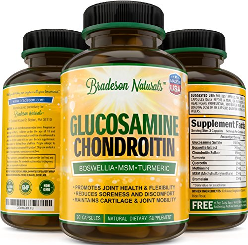 Glucosamine Chondroitin MSM Boswellia Quercetin  Turmeric. Joint Support
