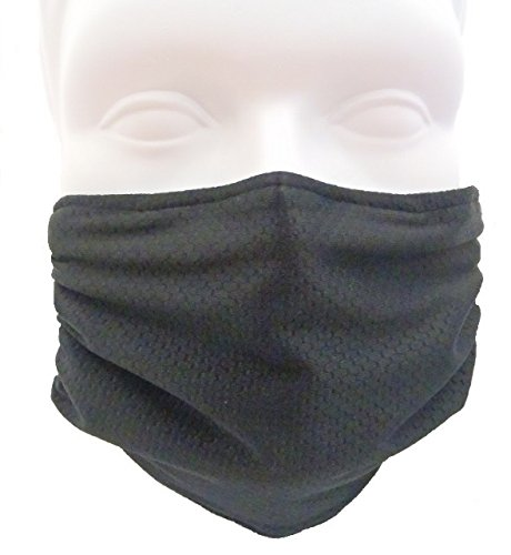 Breathe Healthy Honeycomb Black Mask - Flu Mask, Dust