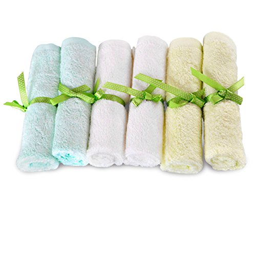 Brooklyn Bamboo Baby Washcloth Wipes 6 Pk Organic, SOFT