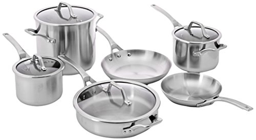 $349.99 Calphalon 10-Piece AccuCore Stainless Steel Cookware Set