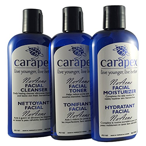Carapex Natural Acne Treatment Set, for Teens, Adults, Men