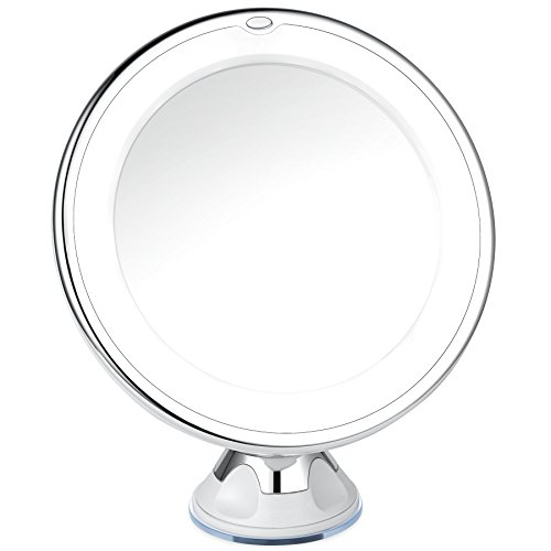 Charmax 7x Magnifying Lighted Makeup Mirror With Bag, Natural