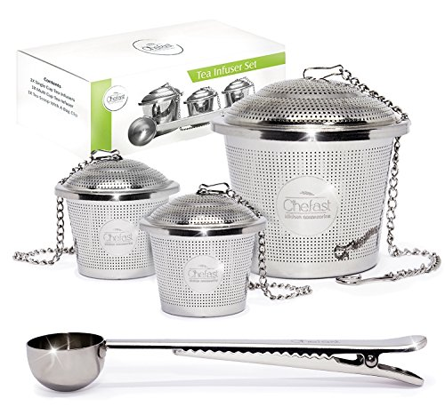 Tea Infuser Set by Chefast (2+1 Pack) – Premium