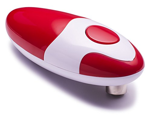 Chef\'s Star Smooth Edge Automatic Electric Can Opener, (Red)