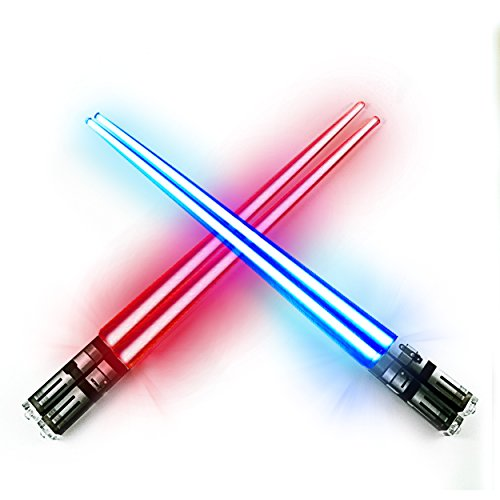 Chop Sabers Light Up LightSaber Chopsticks Set, 2 Pairs