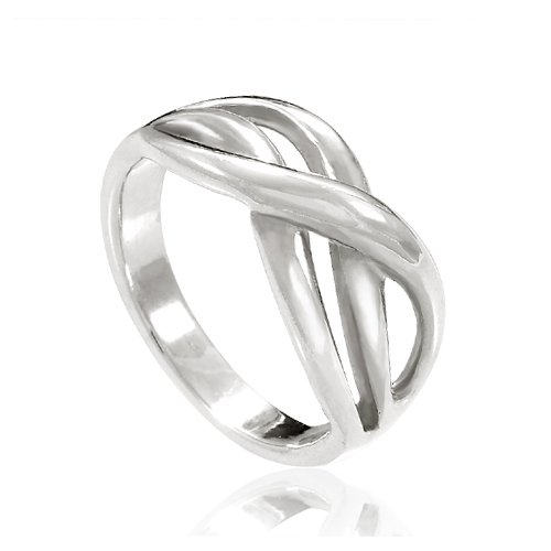 925 Sterling Silver Double Infinity Together Forever Ring -