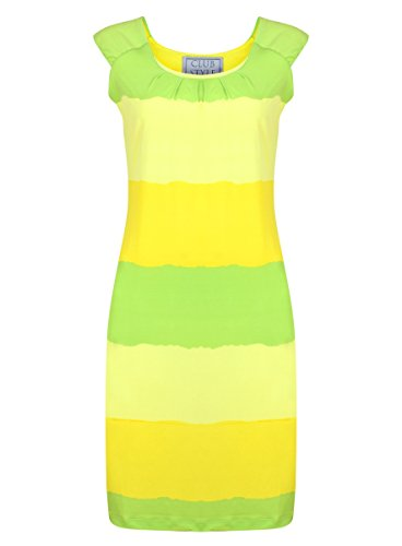 Horizontal Striped Dress Yellow/Green 10
