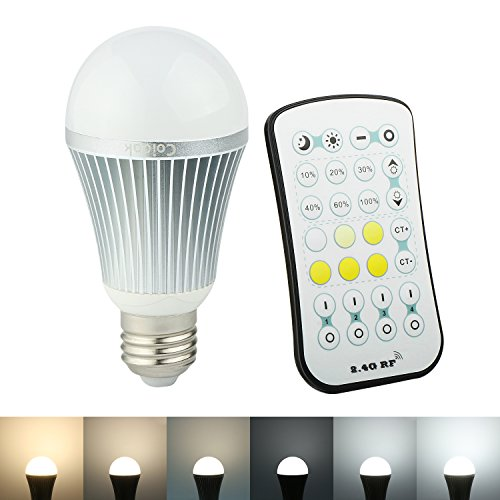 Coidak 9W A19 Dimmable LED Light Bulb and Warm