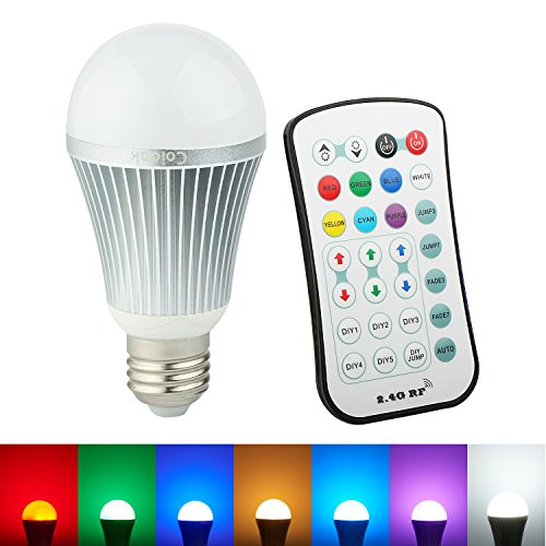 Coidak A19 12W RGB+W LED Color Changing Light Bulb
