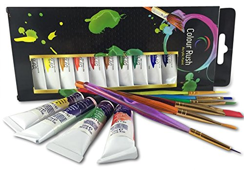 Colour Rush Non Toxic Acrylic Paint Set - 12