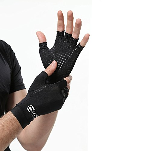 Copper Compression Arthritis Gloves - GUARANTEED Highest Copper Content