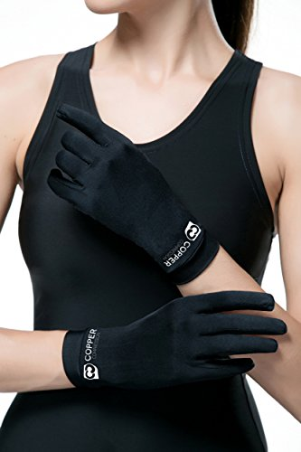 Copper Compression Full Finger Arthritis Gloves. Highest Copper Content