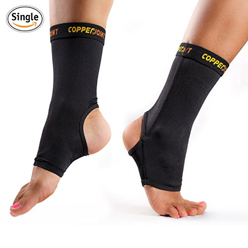 CopperJoint Compression Ankle Sleeve 1 Plantar Fasciitis Sock -