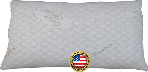 CozyCloud Bamboo Shredded Memory Foam Pillow - All USA