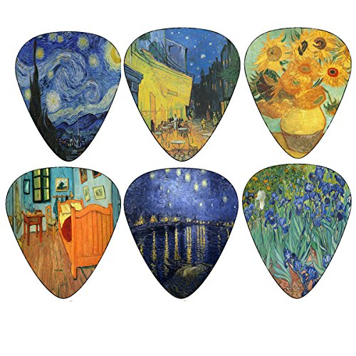 Vincent Van Gogh Guitar Picks - Celluloid Medium 12