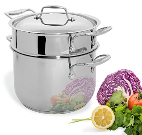 $79.99 Culina 6 Quart Pot Cookware with Pasta Insert and