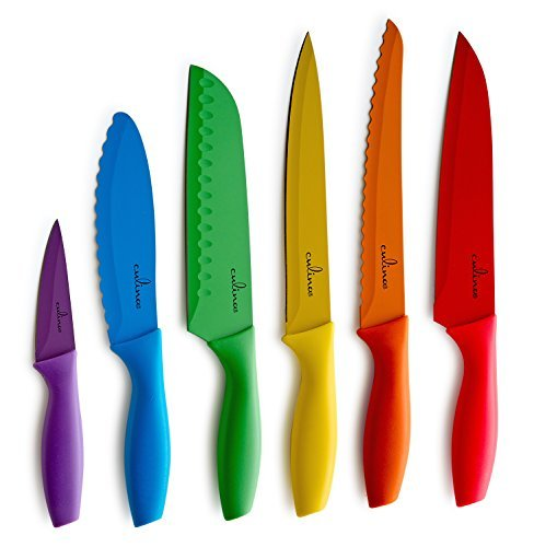 Culina 6 Pieces Color Knife and Blade Guard Set