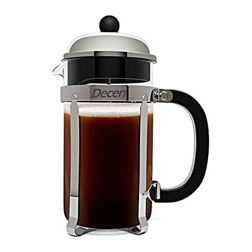 DECEN French Press Coffee Maker with Stainless Steel Holder