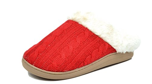 DREAM PAIRS COZY-03 Women Winter Slippers On Faux Fur
