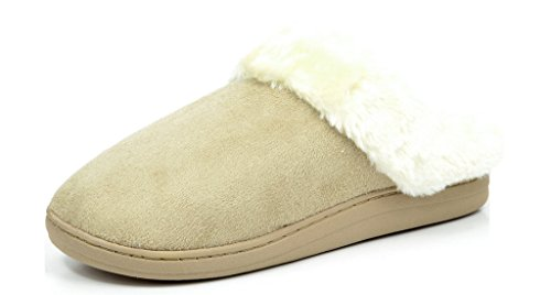 DREAM PAIRS COZY-02 Women Winter Slippers On Faux Fur