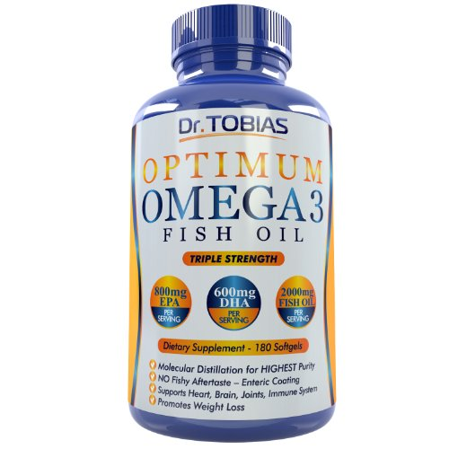 Dr. Tobias Omega 3 Fish Oil Triple Strength, Burpless