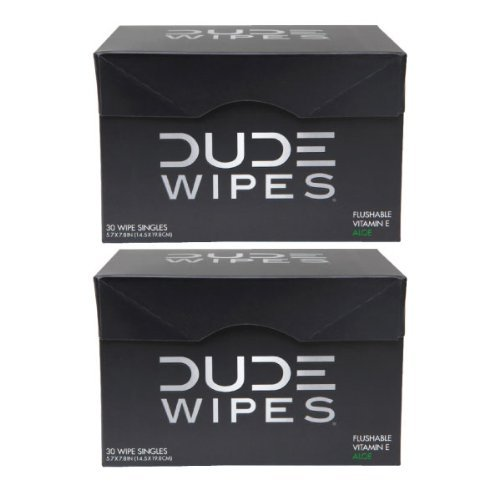 DUDE Wipes, Flushable Single Wipes For Travel, Unscented with