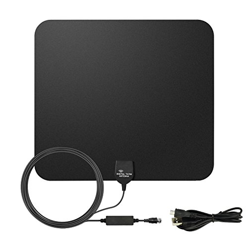 E-More Indoor HDTV Antenna Amplified HDTV Antenna 50Miles Long