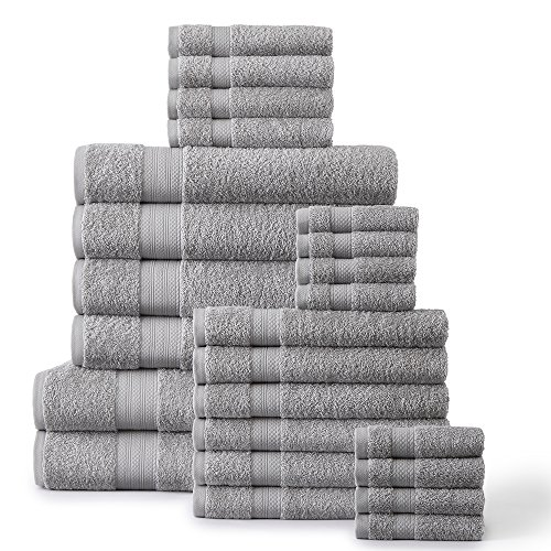 24-Piece 500 GSM Towel Set, Platinum