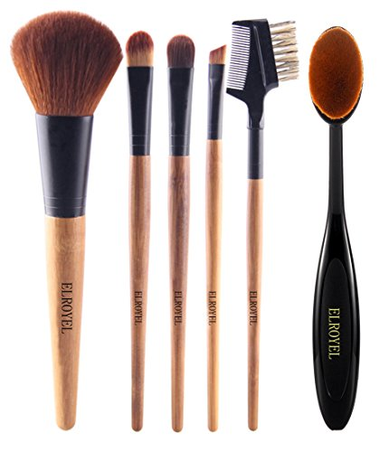 Elroyel 6 Piece Makeup Brush Set