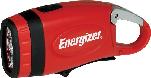 $11.53 Energizer Weatheready 3-LED Carabineer Rechargeable Crank Light, Red