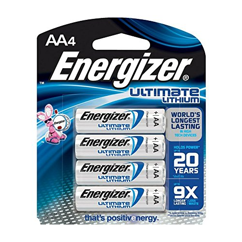 Energizer Ultimate Lithium AA Batteries, World's Longest-Lasting  AA