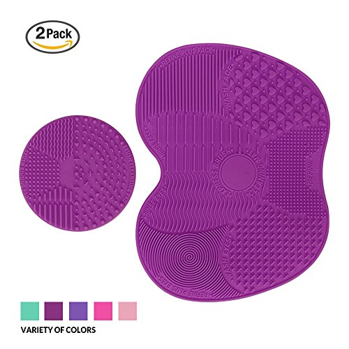 Makeup Brush Cleaning Mat, ESARORA Makeup Brush Cleaner Pad