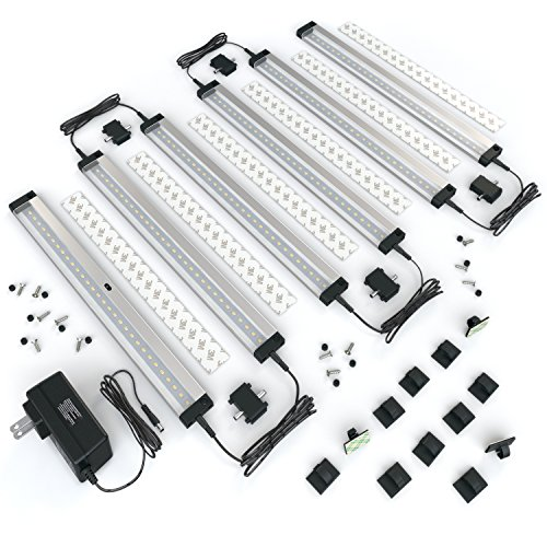 EShine 6 Panels LED Under Cabinet Lighting, with IR