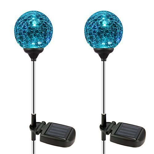 OxyLED SL75 Crystal Glass Globe Color Changing LED Solar