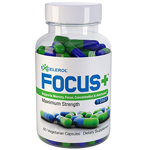 Excelerol Focus Plus Brain Supplement Capsules, 60 Count