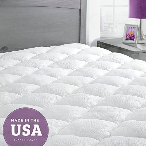 Bamboo Mattress Pad with Fitted Skirt – Extra Plush
