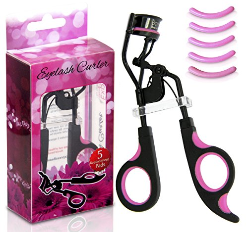 Professional Eyelash Curler with Free Bonus 5 Replacement Pads!