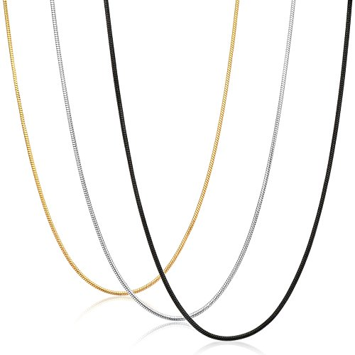 FIBO STEEl 0.9mm Stainless Steel Mens Womens Necklace Snake
