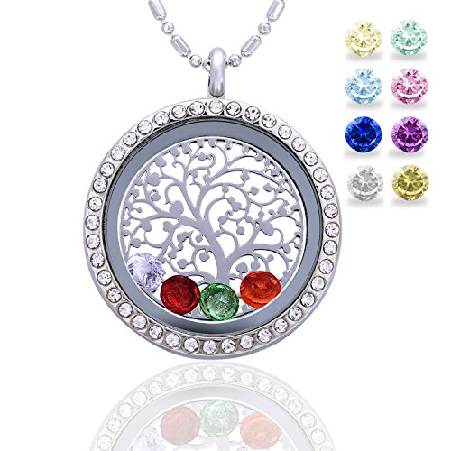 Family Tree of Life Birthstone Necklace Jewelry - Gifts