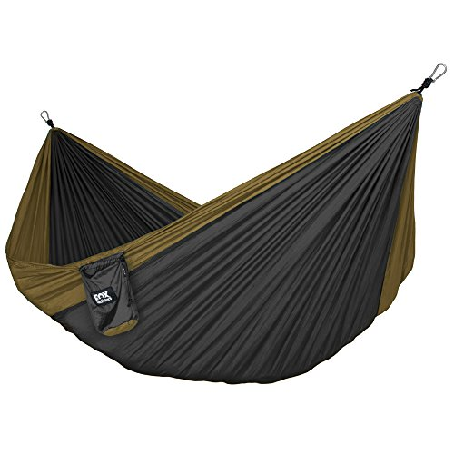 $47.99 Neolite Double Camping Hammock - Lightweight Portable Nylon Parachute