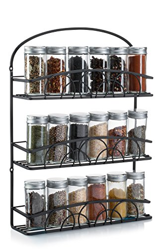 Francois et Mimi Mountable Spice Rack and Holder, Black