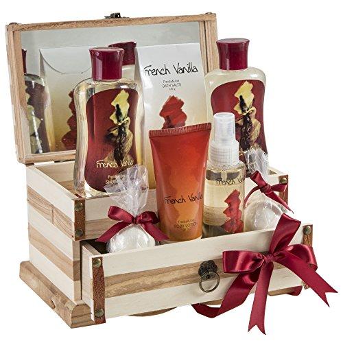 French Vanilla Bath Gift Set in 190ml shower gel,190ml