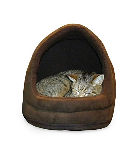 $22.44 NAP Pet Bed Snuggle Terry and Suede Hood Pet